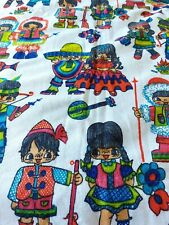More details for a pair of vintage retro 1960s 1970s curtains.