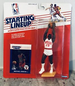 1988 Starting Lineup Michael Jordan Chicago Bulls Rookie Card PSA CLEAR Bubble