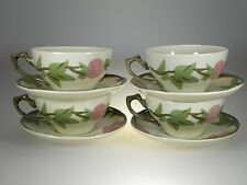 Franciscan Desert Rose Cups & Saucers Set of 4 BRAND NEW PRODUCTION