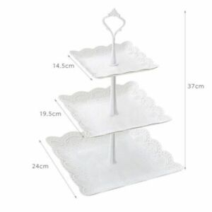 3 Tier Cake Stand Wedding Serving Plate Party Cupcake Tray Dessert Fruit Display