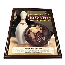 Vintage Kessler Whiskey Earl Anthony Bowling Bar Decor Framed Mirror Man Cave