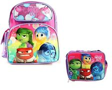 "Disney Girl's Inside Out Small 12"" inches Backpack & Lunch Box - Licensed New"