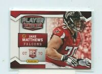 JAKE MATTHEWS 2014 Panini Player of the Day #RC6 Atlanta Falcons