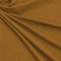 """CAMEL Ponte Roma Fabric 60"""" Luxury Jersey Knit Lycra Stretch Skirts Crafts"""