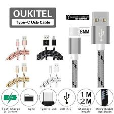1M-2M Type C USB-C Data Sync Charging Charger Cable For Various OUKITEL Phones