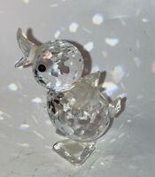 "Vintage Swarovski Mini Clear Crystal Glass Duck Figurine Chick Duckling 1-1/4"""