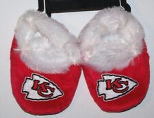 Nwt New Kansas City Chiefs Football NFL Logo Slippers Shoes Booties Red Fur Baby