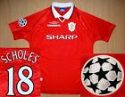 sale SCHOLES Manchester United CHAMPIONS 1999 shirt jersey camiseta soccer CL 99