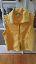 Hasting & Smith Cornsilk YEL Flower Quilted Pattern Zip Front Vest Size  M NWT