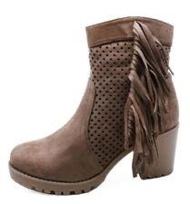 Botas de mujer botines sin marca color principal marrón