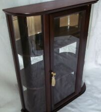Bombay Company Curved Glass Curio Cabinet  Vintage 3 Shelf Display