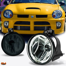 For 03-05 Dodge Neon/SX 2.0 Halo Ring Smoked Lens Front Driving Fog Light/Lamp