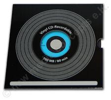 Vinyl CD-R Carbon, blau, 10 Stück 700 MB zum archivieren, in Kartonstecktasche