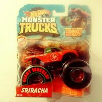 2019-Hot Wheels-Monster Trucks Sriracha New For 2019 Giant Wheels 1:64 Boys 3+