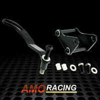 Black Finish Power Steering Bracket Set Fits SWP/LWP Pump Chevy SBC 327 350 400