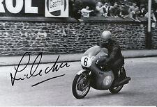 Jim Redman Hand Signed 12x8 Photo Isle of Man TT  1964 Honda.