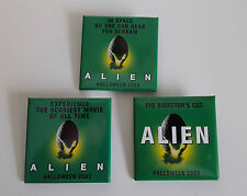 Lot of 3 Alien Director's Cut 2003 Movie Promo Promotional Buttons Pins