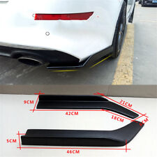 Pair Rear lip Canard Diffuser wrap angle Shovel Scratch Resistant Winglet-Black
