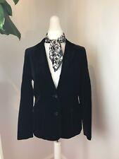 Black velvet vintage style blazer mod psych festival boho size 10/12