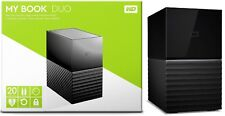 Western Digital WD 20TB My Book Duo Desktop RAID 10TB X 2 HD WDBFBE0200JBK Gen 2