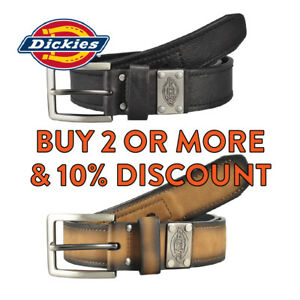 DICKIES BELT MENS HEAVY DUTY LEATHER BELT FORMAL INDUSTRIAL STRENGTH WORK BELT