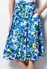 MILLY for DesigNation Size: MEDIUM Blue Floral Pleated Midi SKIRT New. Юбка