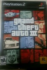 GRAND THEFT AUTO III 3 PS2 BLACK LABEL GAME SONY FACTORY SEALED BRAND NEW