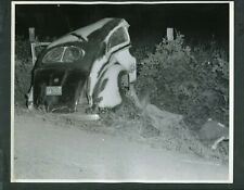 Vintage 1950s Photo Police Men at Scene of Accident w/ Car Wreck 406114