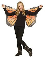Butterfly Wings Soft Fabric Child Costume Accessory, One Size, Orange-Yellow