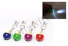 Table Tennis Ping Pong Paddle Bat Keyring With LED Light Torch Stocking Filler