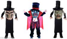 Disfraces de niño de poliéster de color principal negro de vampiros
