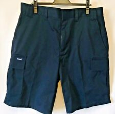 NWT Hammil Work Cargo Shorts Size 38/10 Unisex Navy Blue 6 Pockets Relaxed Fit
