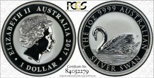 2017 Australian Silver Swan PCGS MS69 First Strike with Gold Shield