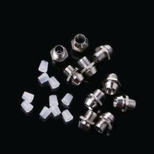 10Pcs 3MM Round Chrome Metal Base LED Light Emitting Diode Bezel Holder