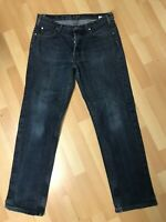 USED Mens Armani JEANS J07 HARD DENIM JEANS BLUE RELAXED W32 L30 H8 RRP£120