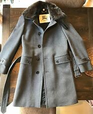 BURBERRY LONDON Baxter Men's Coat Wool Cashmere Grey Airforce Blue Sz46 RRP$2695