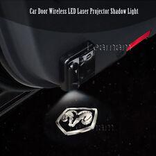 2x Car Door Wireless 7W LED Laser Projector Ghost Shadow Light For Dodge Ram