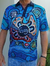 FIRST NATION VOICE - Polo. Australian Aboriginal wearable art