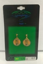 NEW Batman Forever Cloissione Enameled Jewelry Earrings MOC 1995