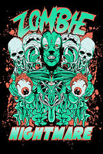 STUNNING ZOMBIE SKULLS CANVAS PICTURE #8 WALL HANGING POP ART A1