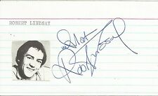 Hand Signed 5x3 card ROBERT LINDSAY - Citizen Smith - My Family