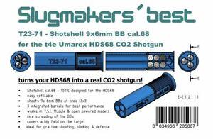 2x Slugmaker´s best T23-71 Shotshell f Umarex t4e HDS68 Schrotpatronen 9x6mm BBs