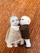 Hugging Bisque Kewpie Dolls- Bride and Groom Figures