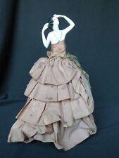 Demi-figurine porcelaine cachottière boite à poudre  Half Doll vers 1920