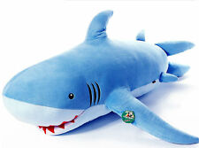 115CM Giant Shark Stuffed Animal Plush Soft Toys Doll Pillow Kids Birthday  Gifts