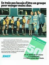 PUBLICITE ADVERTISING 0217  1982  SNCF    train tarif  couple famille