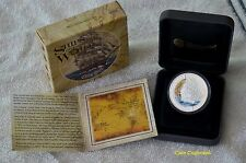 """2011-2012 TUVALU - (5 COIN SET) """"Ships that changed the World"""" .999 silver"""
