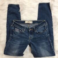 Hollister Womens Jrs 1S 25 29 (actual 28) Medium Wash Stretch Skinny Jeans