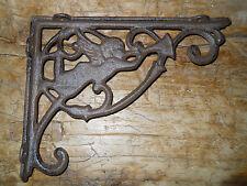 2 Cast Iron Antique Style ANGEL Brackets, Garden Braces Fairy Shelf Bracket