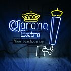 CORONA EXTRA BEER YOUR BEACH ON TAP NEON BAR SIGN NEW IN BOX MADE IN USA HTF